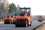 Asphalt concrete laying on the head section of the M-11 «Moscow – Saint-Petersburg» Highway (15 km – 58 km)